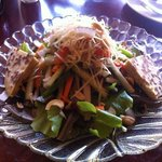 garden salad with nuts & yak cheese