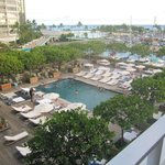 Our view - third floor room, poolside