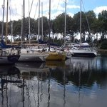Carentan marina and pretty village about 40 minutes away