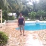 Well maintained pool .