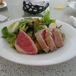 Salat an der Strandbar