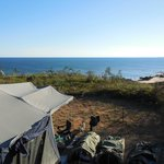 180 degree view over Pender bay from our camper
