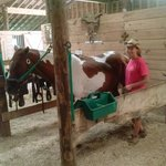 My Trial Guide with her beautiful horse, Remington