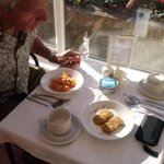 sunny Breakfast in conservatory