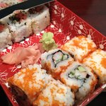 Delivery box of sushi