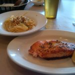 Grilled Salmon with pasta side