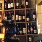 bar area with halloween server!