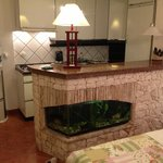 Kitchen and cute fish tank