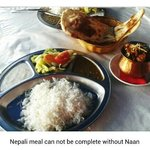 Meal with Naan