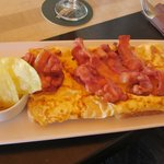 cheese and bacon omelette