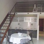 Living-room / kitchen & loft bedroom