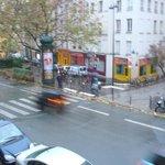 vista da janela p a rua