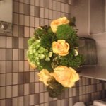 Flowers in the restroom
