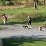 The owners walking their dogs!! Great people!