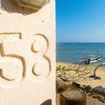 Shack 58's location on the beach