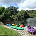 Kayaking on the River Teifi