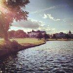 Spring Lake at sundown.