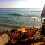 Cafe overlooking beach