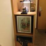 mini bar and coffee machine