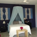 Our wonderful Azul room and the most comfortable bed ever.