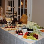 Dessert Table laid out entirely by Willow Bakery