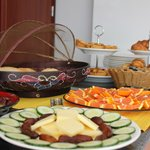 Breakfast Buffet - Delicious cheese and fresh fruit