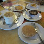 Assorted desserts at Rowena's Cafe