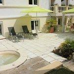 terrasse et spa d'été