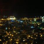 Night view of the marina