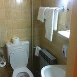 the tiny, moldy bathroom