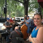 Tuesday evening bluegrass jam on the Square