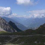 Blick von der Karlsbaderhütte ins Tal