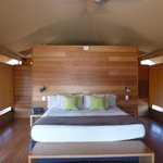 Interior of a tented room