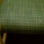 Chair, damaged upholstery