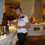 la fameuse fontaine de chocolat