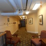 Lower level of hotel