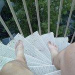 "Sitting on my ""balcony"""