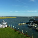 View from Room: Chincoteague Channel, Marsh Island and Bridge