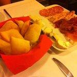 gnocco fritto con salumi e formaggi