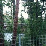 Patio at River Pines Inn overlooking bridge...a quiet getaway