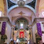 Interior Templo de la Santa Cruz.