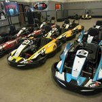 Real gas-powered racing go-karts