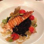 Salmon with black rice