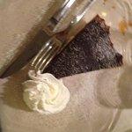 torta con cioccolato fondente