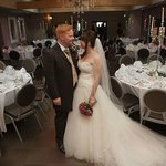 Wedding Picture in the Oak Room