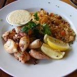 Grilled calamari