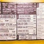 Affordable menu!