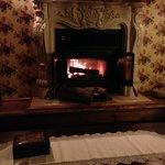 Le feu de foyer réconfortant