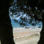 Dall'hotel la spiaggia