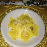 Potato and truffle ravioli